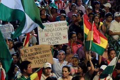 Protestas en Santa Cruz, Bolivia
