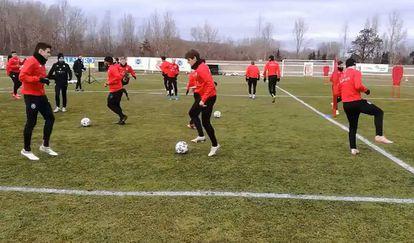Entrenamiento del Cultural Deportiva Leonesa. © Twitter del equipo