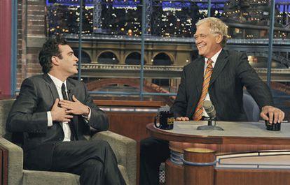 Joaquin Phoenix, en el programa de David Letterman.