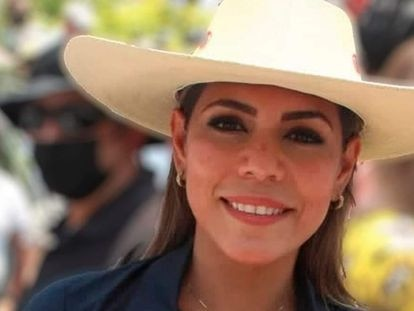 Evelyn Salgado Pineda, candidata a la gubernatura de Guerrero por Morena e hija de Félix Salgado Macedonio.