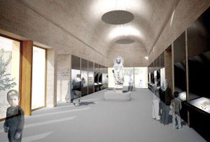 Vista virtual del interior del Museo Nacional de Afganistán.