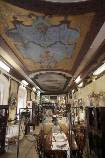 Pintura de Zuloaga en el interior del inmueble.