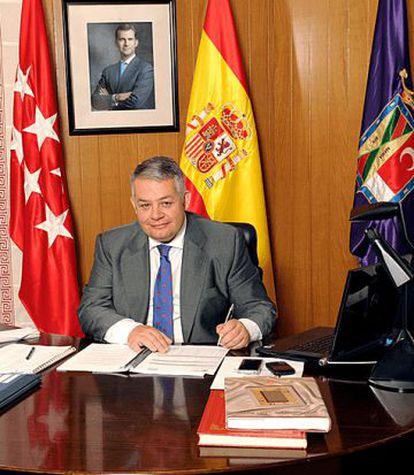 El alcalde de Colmenar Viejo, Miguel Ángel Santamaría Novoa