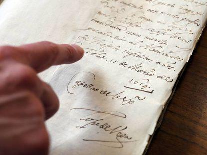 Cartas de Lope de Vega en la Biblioteca Nacional de Madrid.