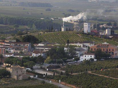 Vista general del municipio catalán de Avinyonet del Penedès.