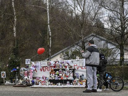 Homenaje a Maëlys en el lugar de su desaparición el pasado agosto