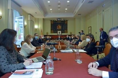 Reunión del pleno del CGPJ, el pasado octubre.