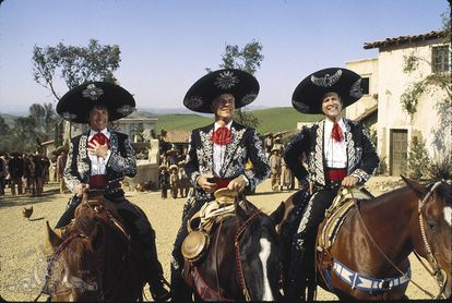 Fotograma de la película 'Tres amigos'.