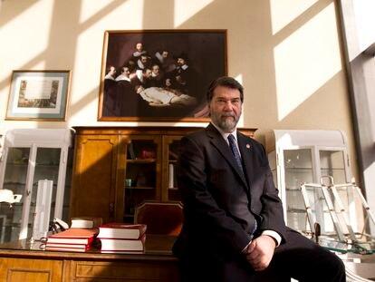 Pedro Alonso, cuando fue nombrado doctor 'honoris causa' en la Universidad Rey Juan Carlos, en 2016.