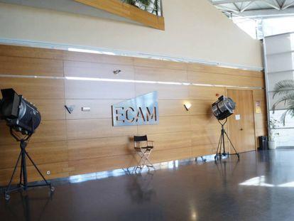 Entrada al salón de actos de la ECAM.