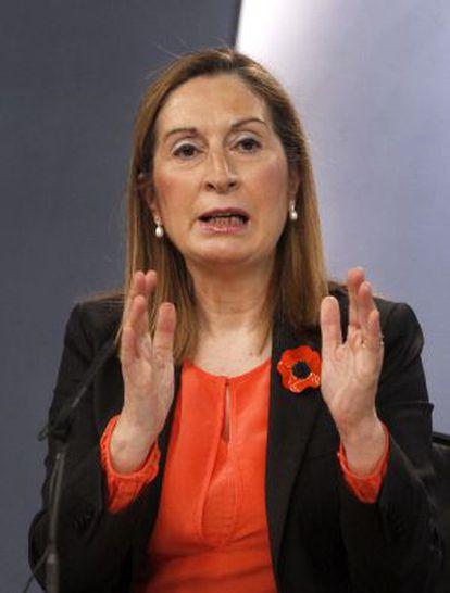 Ana Pastor, el pasado 5 de abril.