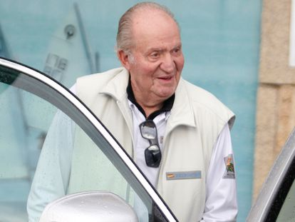 Juan Carlos I, en Sanxenxo en julio de 2019.