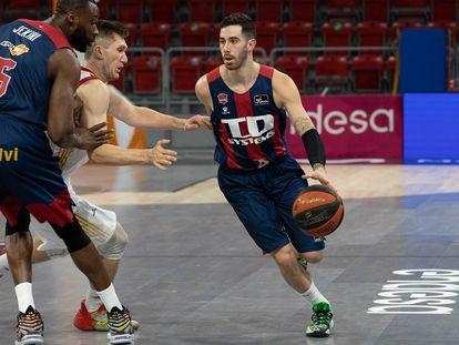 Vildoza, en un partido de la Liga ACB con el Baskonia