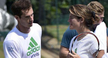 Andy Murray con Amelie Mauresmo, su entrenadora.