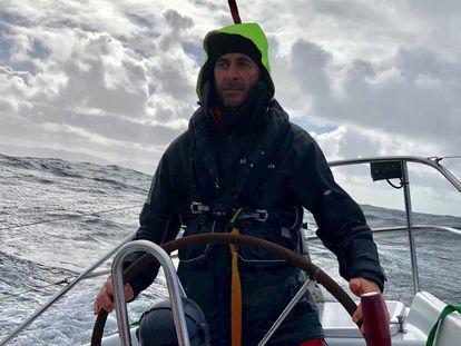 Unai Basurko, en alta mar