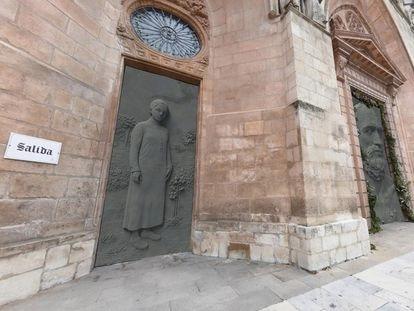 Recreación de la portada de la catedral de Burgos que prepara Antonio López.