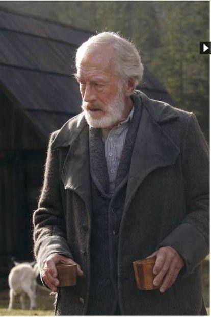 Max von Sydow, como abuelo de Heidi en la película de 2005.