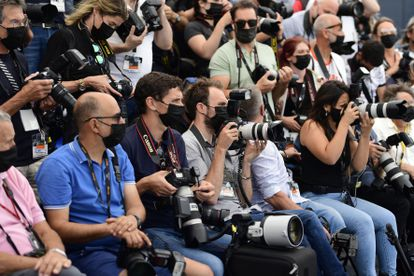 Photojournalists in Cannes on Monday the 13th.