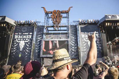 Escenario del  Wacken Open Air festival, este miércoles 1 de agosto.
