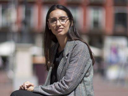 Nuria Sánchez, psicóloga recién retornada a España, este viernes en Valladolid.