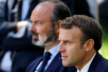 Emmanuel Macron y Édouard Philippe, a finales de junio en París.