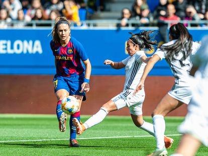 Alexia Putellas, durante un partido de la Liga Iberdrola.