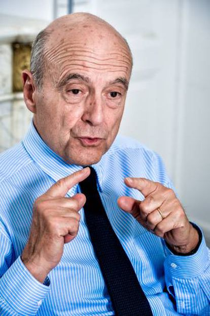 Alain Juppe, el lunes durante la entrevista.