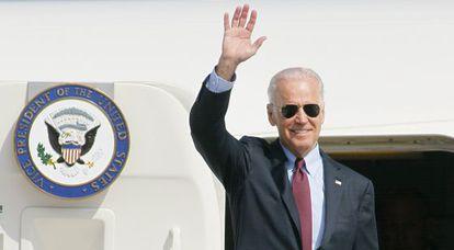 El vicepresidente de EE UU, Joe Biden, este lunes en Kiev.