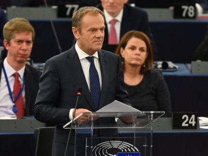 El presidente del Consejo Europeo pide  no traicionar  a la  creciente mayoría  que quiere permanecer en la UE
