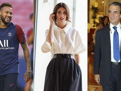 Neymar, Paz Vega y Mario Conde.