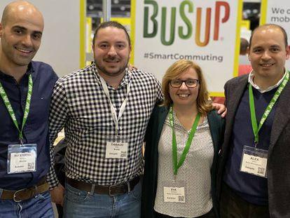 Alex Canals, Eva Romagosa, Thibaud Kistle y Rui Stoffel, de BusUp.