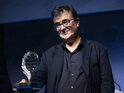 Javier Cercas galardonado con el Premio Planeta 2019 en Barcelona.