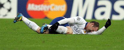 Wayne Rooney ha estado descartado hasta el último momento por Ferguson, pero jugará pese a caer lesionado en la ida
