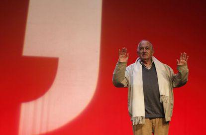Juan Goytisolo, ayer en Madrid en el escenario del Festival Eñe