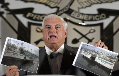 El presidente Ricardo Martinelli el pasado mes de abril