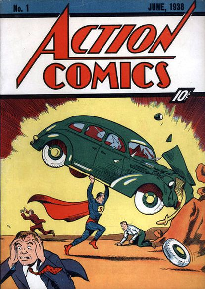 Primer ejemplar de Action Comics en el que aparece Supermán