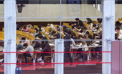 Instalaciones de la universidad Pompeu Fabra en Barcelona