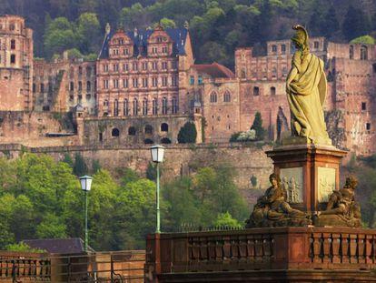 Vista de la ciudad de Heidelberg, Alemania.