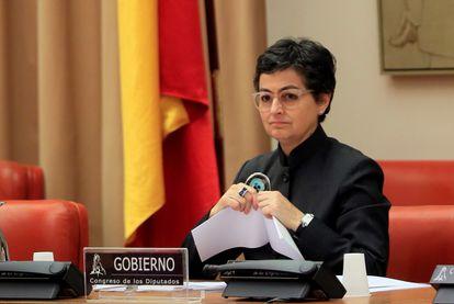 Arancha González Laya, durante su comparecencia este jueves en el Congreso.