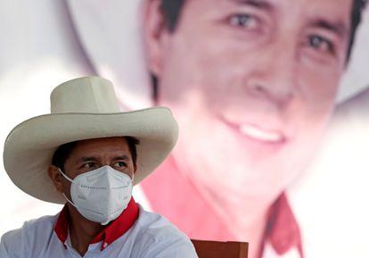 El candidato presidencial Pedro Castillo.