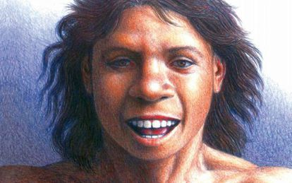 Ilustración de un 'antecessor' en el libro 'El chico de la Gran Dolina'.