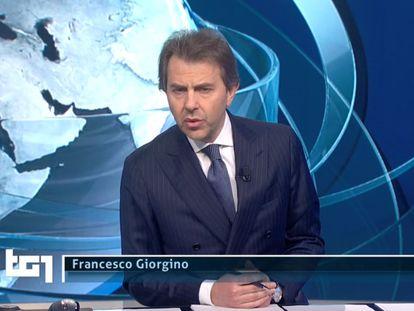 Francesco Giorgino, presentador de los informativos italianos Tg1.