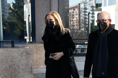 Cristina Cifuentes, a su salida del tribunal el pasado enero en Madrid.