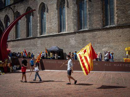 El Fossar de les Moreres, uno de los puntos de concentración del independentismo en la Diada.