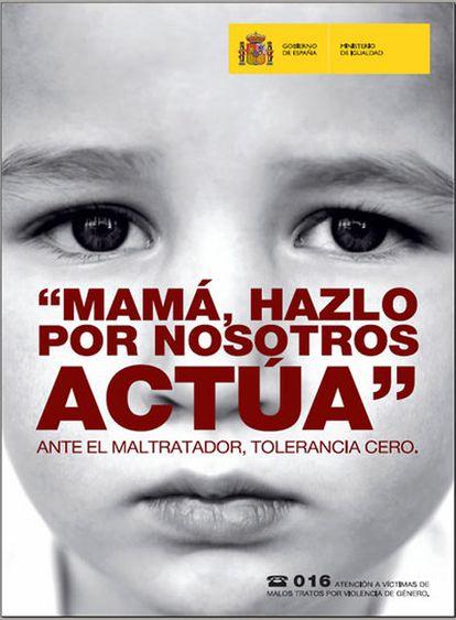 Una imagen de la campaña 'Ante el maltratador, tolerancia cero'