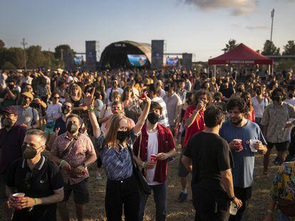 Escenario principal del Festival Vida, este viernes en Vilanova i la Geltrú.