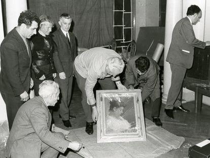 'Retrato de la madre de Picasso', de 1896, una de las obras retiradas del piso de paseo de Gracia en mayo de 1970, tras la donación del artista.