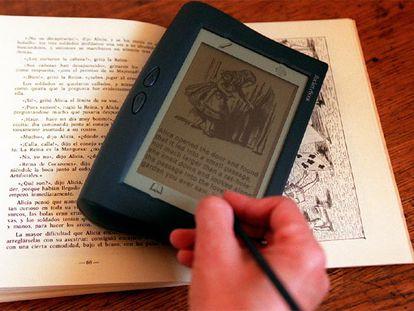Un modelo de libro electrónico.