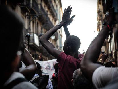Imagen de archivo de unos manifestantes en Barcelona contra el