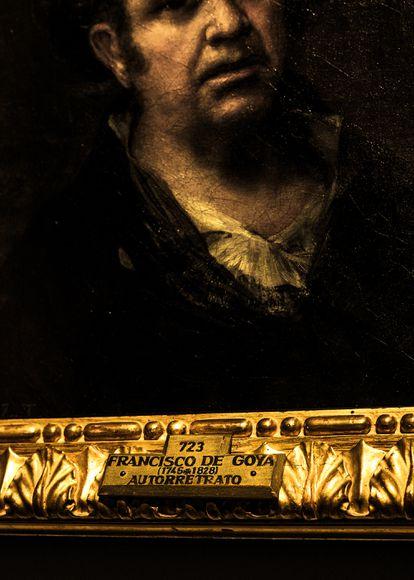 Autorretrato de Francisco de Goya expuesto en elMuseo del Prado. El genio de Fuendetodos pintó unaveintena larga de ellos a lo largo de su carrera.